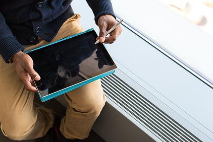 Jugando en la Tablet