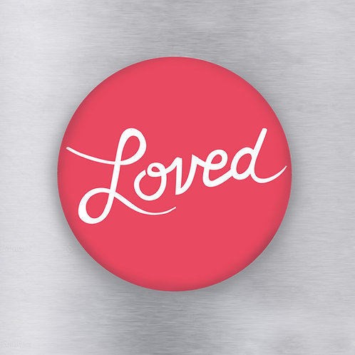 Loved Red Magnet