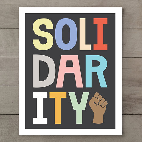 Solidarity Color Art Print