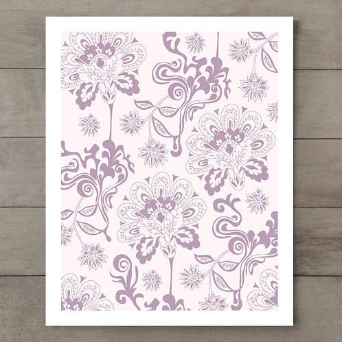 Twisted Floral Art Print