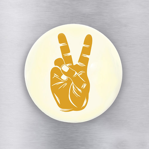 Peace Sign Yellow Magnet