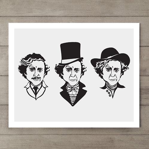 Gene Wilder Grey Art Print