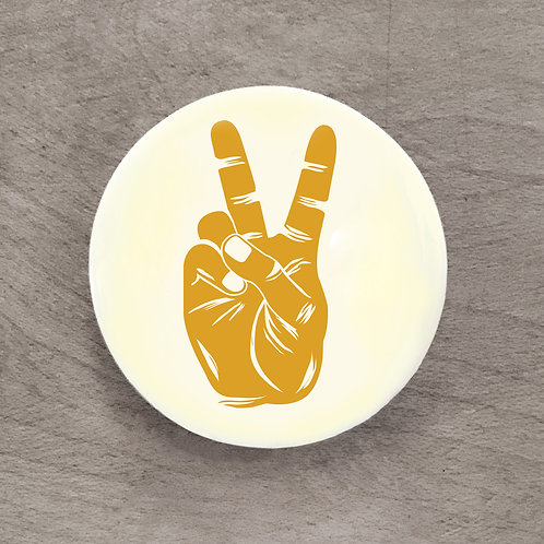 Peace Sign Yellow Pin