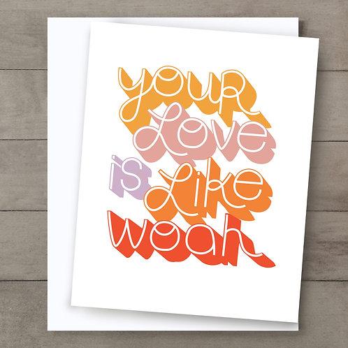 Your Love Retro Card