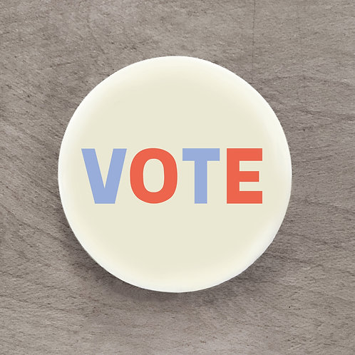 Vote Off-White Pin