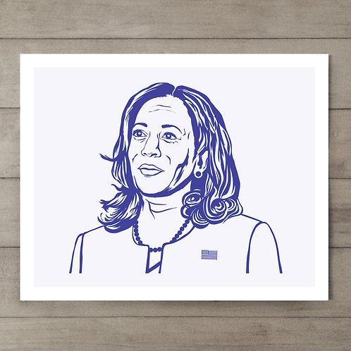 Kamala Harris Art Print