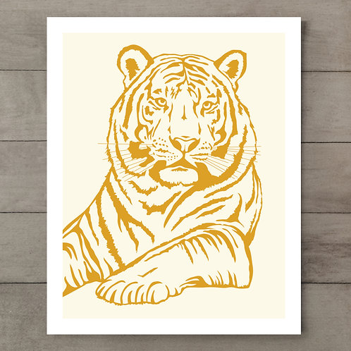 Tiger Orange Art Print