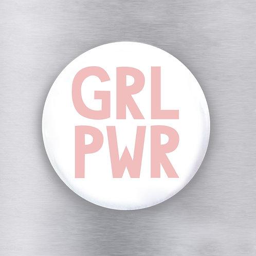 Girl Power White Magnet