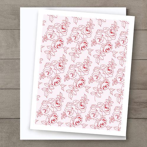 Pretty Rose Card