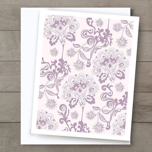 Twisted Floral Card