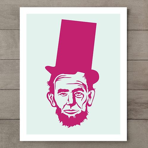 Abe Mint Pink Art Print