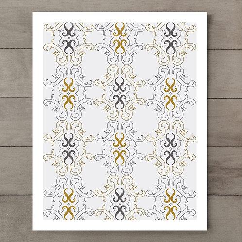 Swirl Emblem Art Print