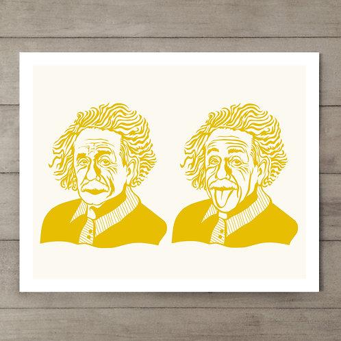 Einstein Yellow Art Print