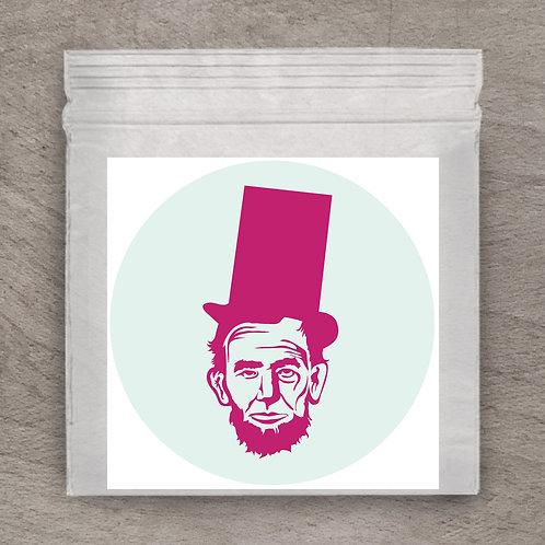 Abe Mint Pink Sticker