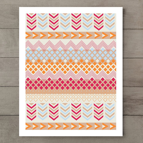 Zig Zag Arrow Art Print