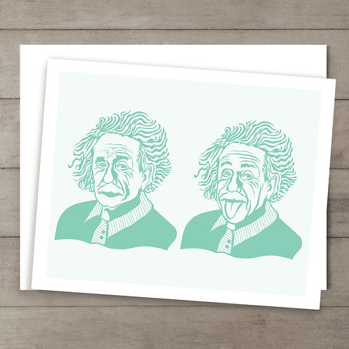 Einstein Teal Card