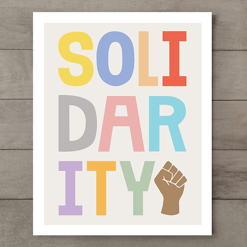 Solidarity Rainbow Art Print