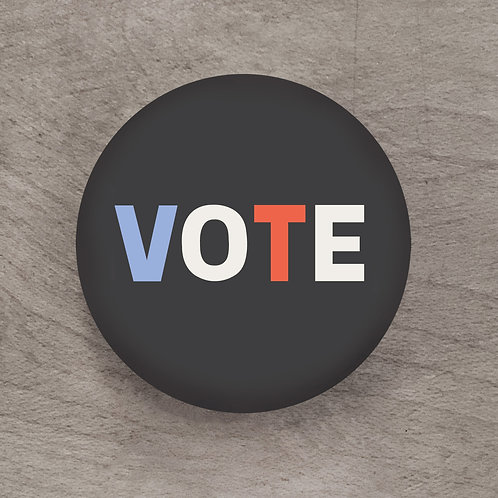 Vote Dark Navy Pin