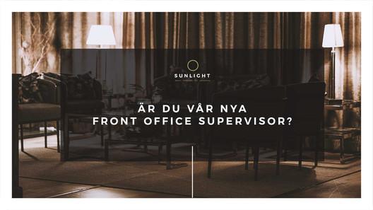 Front Office Supervisor