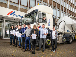 Driving to success - CEMEX Logistics Apprentices graduate