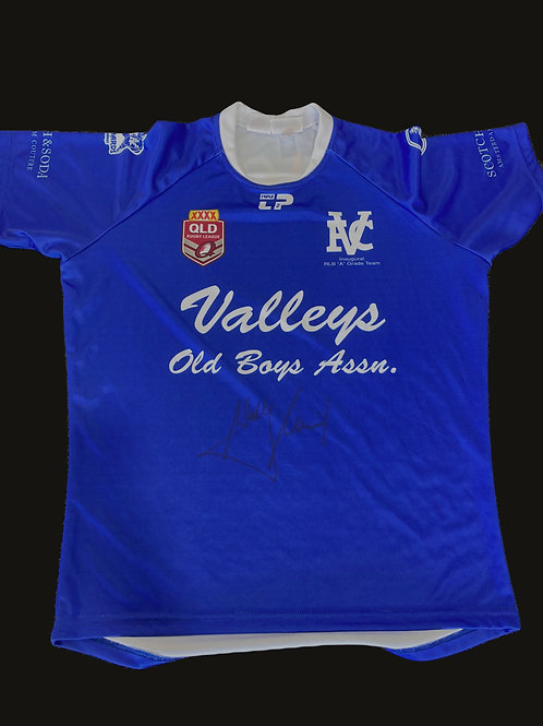 Wally Lewis Signed 2015 Inaugural BRL A-Grade Jersey