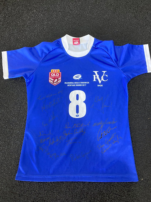 True Blue Diehards Signed Jersey - 2017 Ross Strudwick Heritage Round