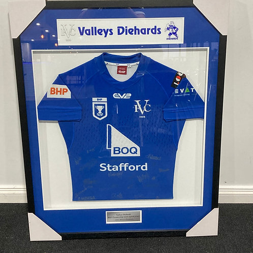 Framed and signed 2021 BHP Premiership Jersey
