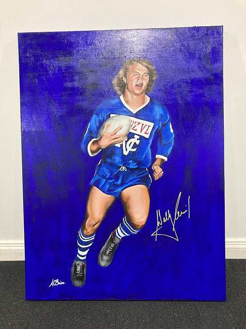 Original signed Wally Lewis Painting