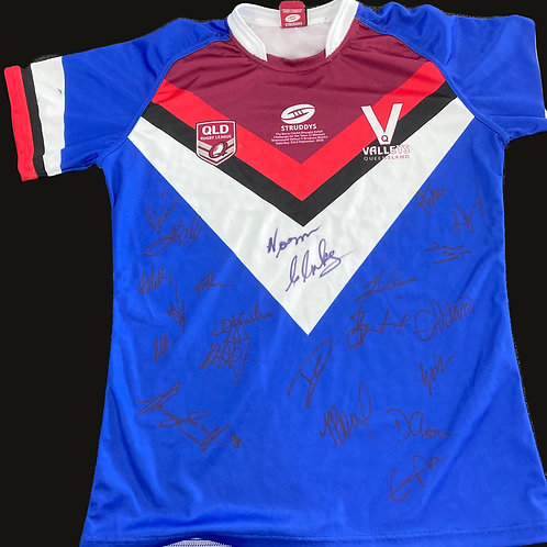 Norm Clarke Signed 2018 Queensland Valleys Jersey