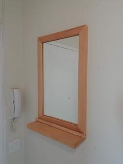 Miroir en hêtre massif