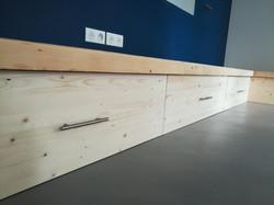 Aménagement en bois de récup