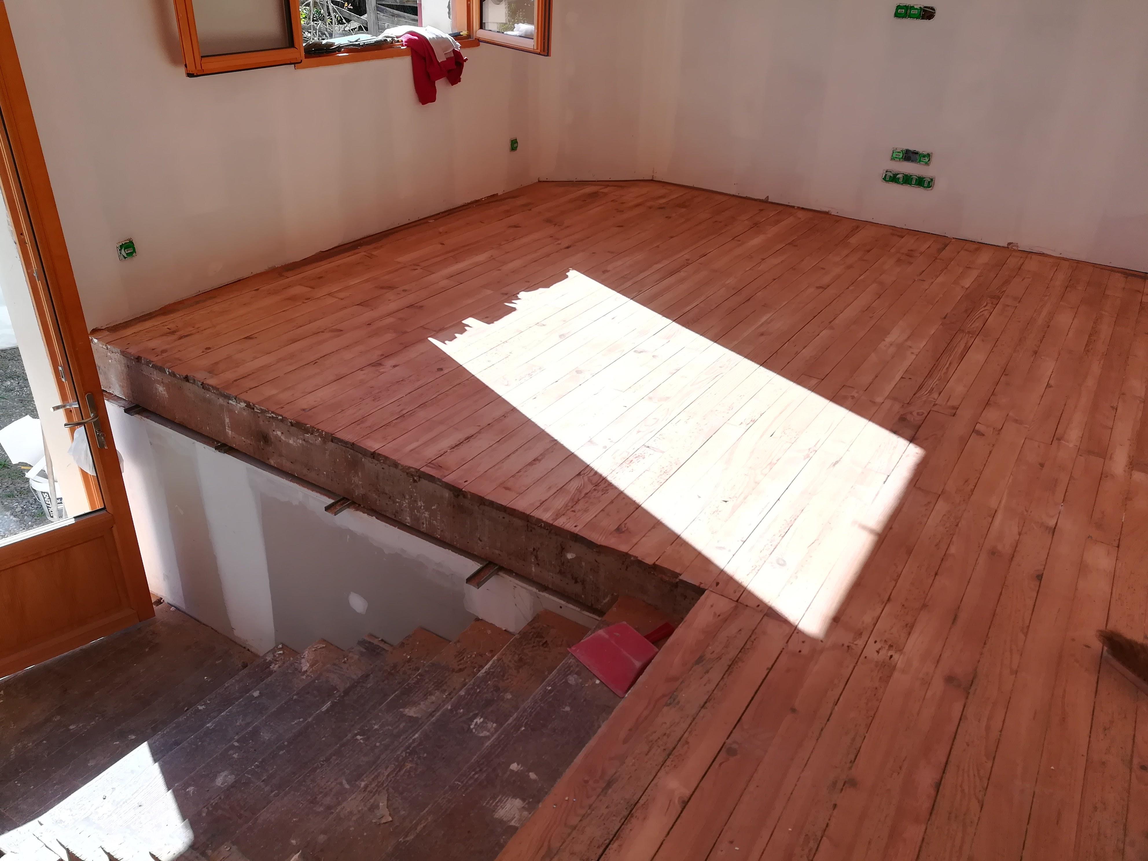 Restauration de planchers pin