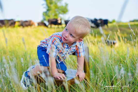 Farm boy in the making! Never scared of