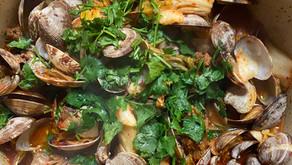 Spicy Clams with Kimchi & Chorizo