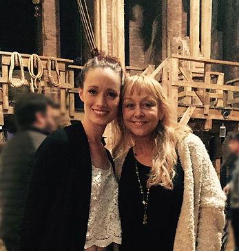 Christina Saffran with Kim Taylor, Broadway cast of Hamilton