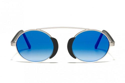 L.G.R Togo Silver Matt 02/Flat Blue Mirror