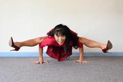 Yoga on heels