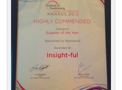 Insight-ful wins at Institute of Fundraising Awards