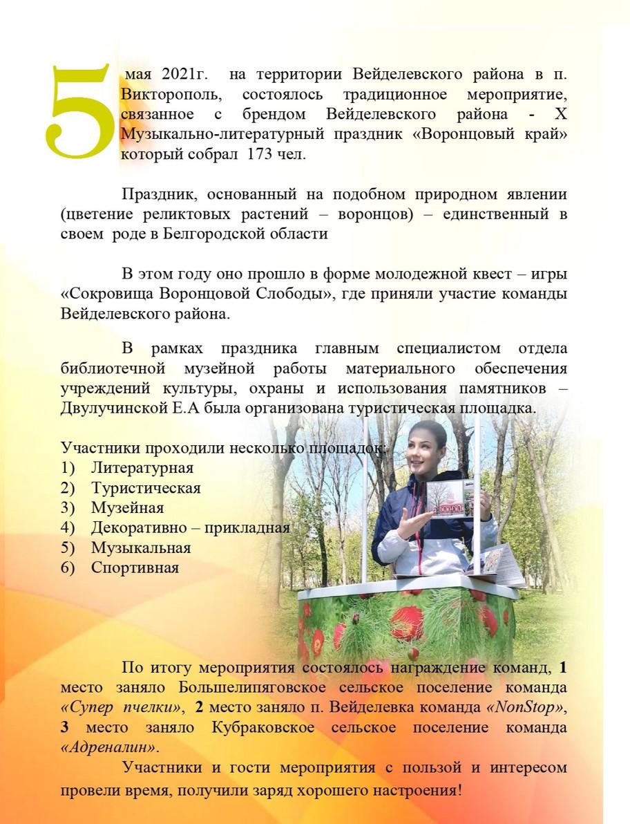 X Музыкально-литературный праздник «Воронцовый край»