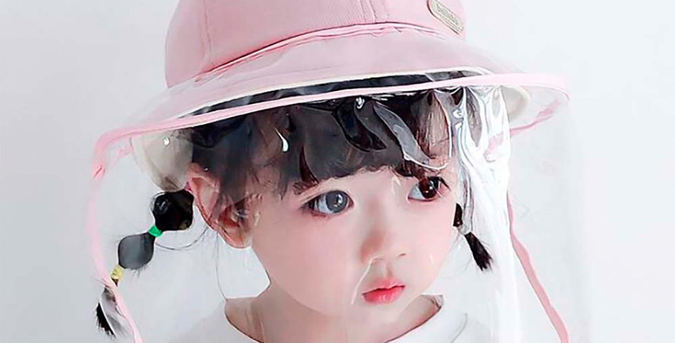 Anti-spitting Protective Hat Dust proof Cover Kids Boys Girls Fisherman Cap Hat-ATC-Get safe for your family-reasonable