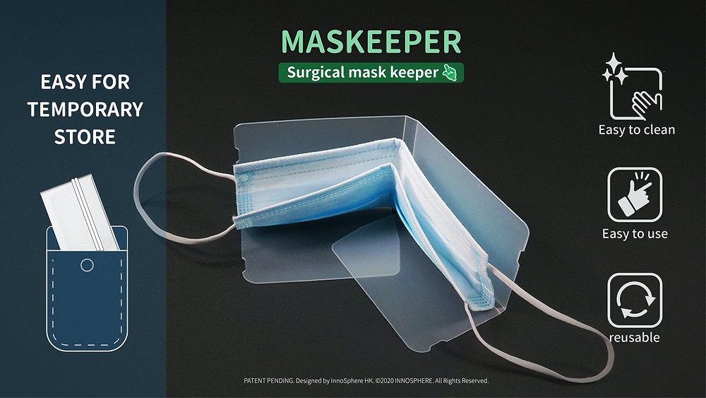 Quick and easy way to store surgical mask.-ATC