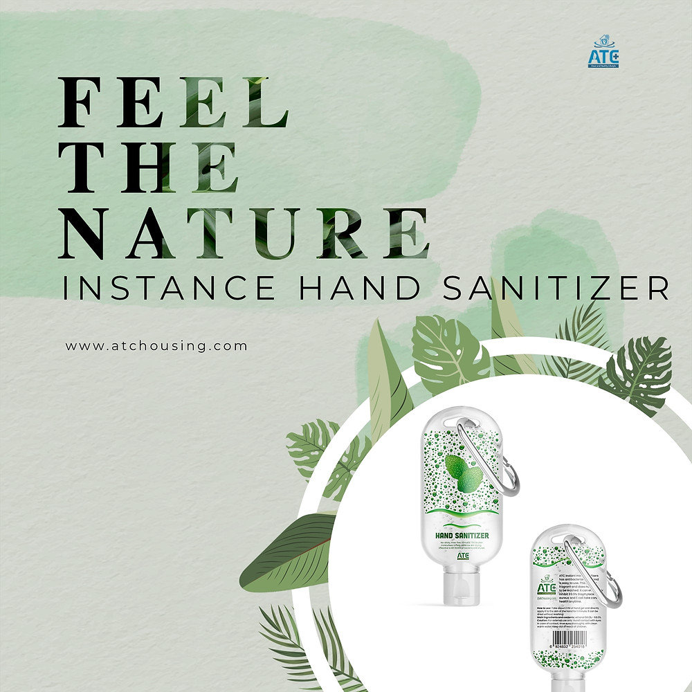 ATC MOISTURIZE INSTANCE HAND SANITIZER WITCH CONTAINS 75% alcohol only £2