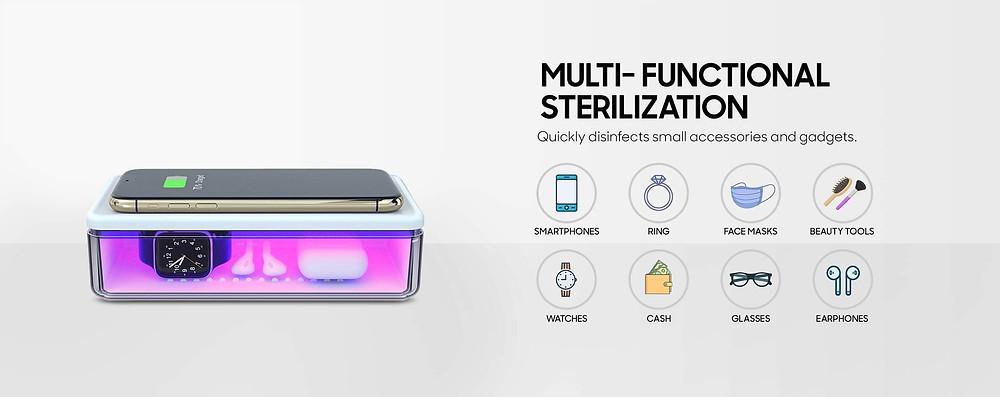 ATC UV Sterilizer Phone Wireless Charger Box On SALE!