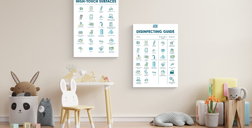 Disinfecting Checklist | Cleaning Guide | Disinfecting Guide | Home Cleaning Printable | Cleaning Checklists | Hand Washing S