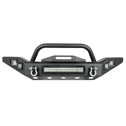 Jeep JK 07-18 Front Bumper With Light Bar And Cubes