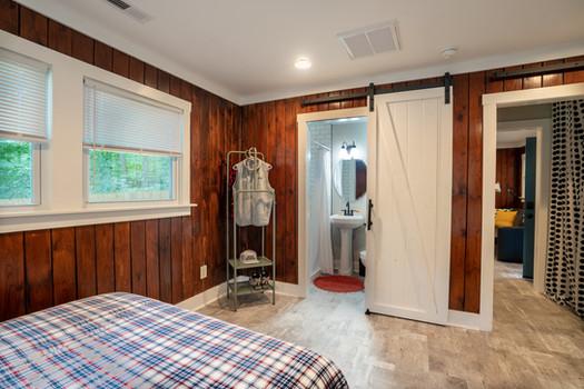 Storage and Full Bathroom