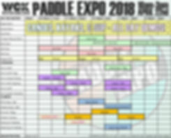 Paddle Expo 2018 Schedule
