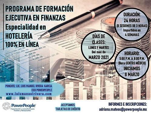 PROGRAMA DE FORMACIÓN EN FINANZAS. ESPECIALIDAD EN HOTELERÍA