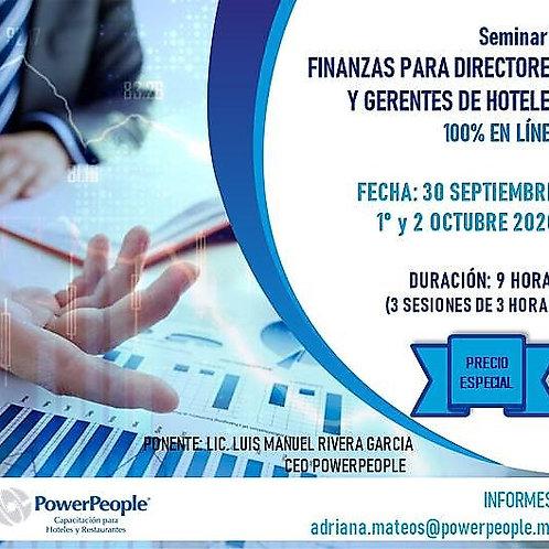 Seminario  FINANZAS PARA  DIRECTORES Y GERENTES DE HOTELES