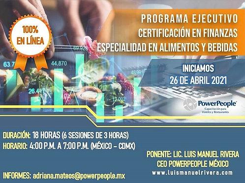 """PROGRAMA EJECUTIVO DE CERTIFICACIÓN EN FINANZAS ESPECIALIDAD """"A & B"""""""